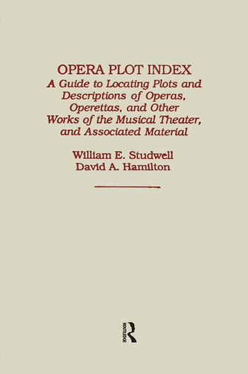 Opera Plot Index book cover