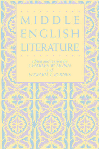 Middle English Literature book cover