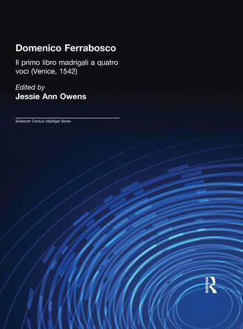 Domenico Ferrabosco, Il primo libro de madrigali a quatro voci (Venice, 1542) Madrigals book cover