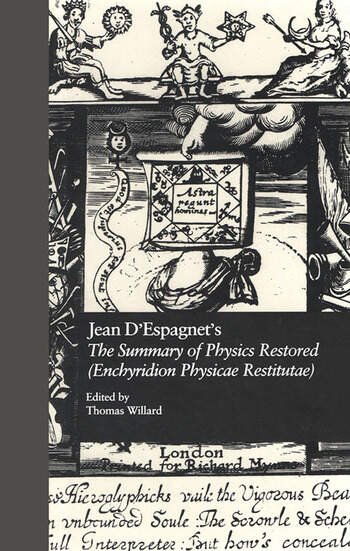 Jean D'Espagnet's The Summary of Physics Restored (Enchyridion Physicae Restitutae) The 1651 Translation with D'Espagnet's Arcanum (1650) book cover