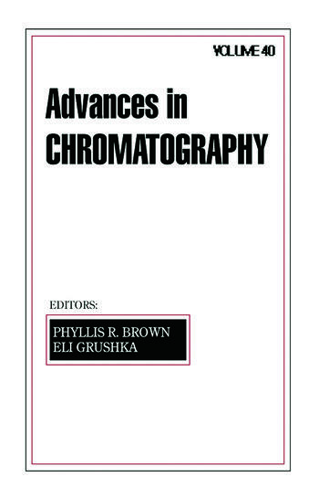 Advances in Chromatography Volume 40 book cover