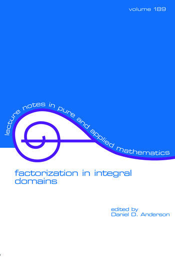 Factorization in Integral Domains book cover