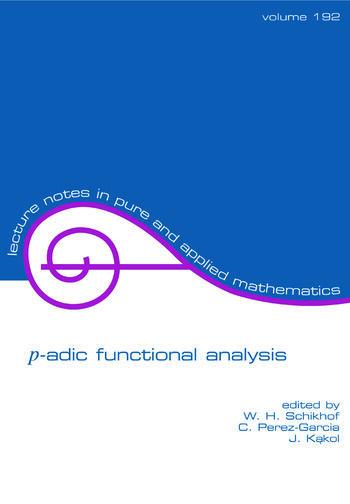 p-adic Functional Analysis book cover