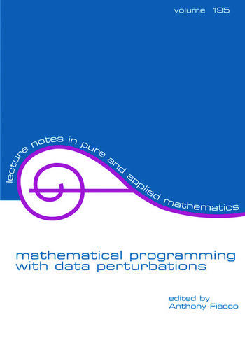 Mathematical Programming with Data Perturbations book cover