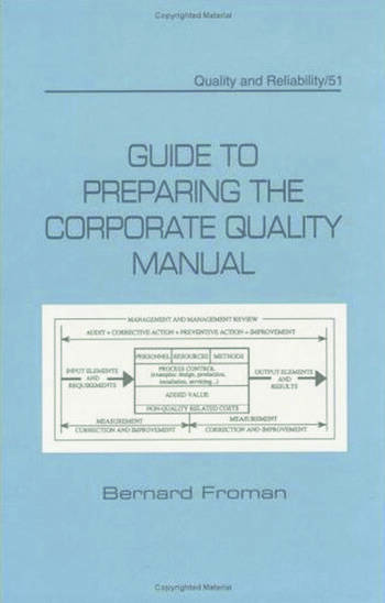 Guide to Preparing the Corporate Quality Manual book cover