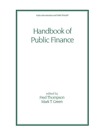Handbook of Public Finance book cover