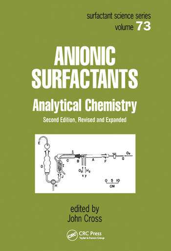 Anionic Surfactants Analytical Chemistry, Second Edition, book cover