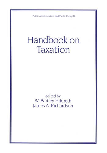 Handbook on Taxation book cover