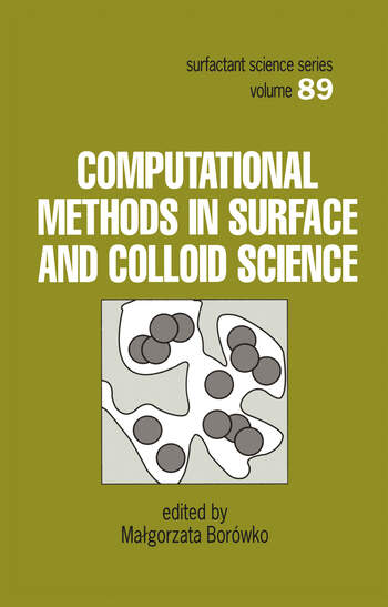 Computational Methods in Surface and Colloid Science book cover