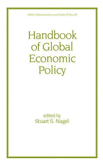 Handbook of Global Economic Policy book cover
