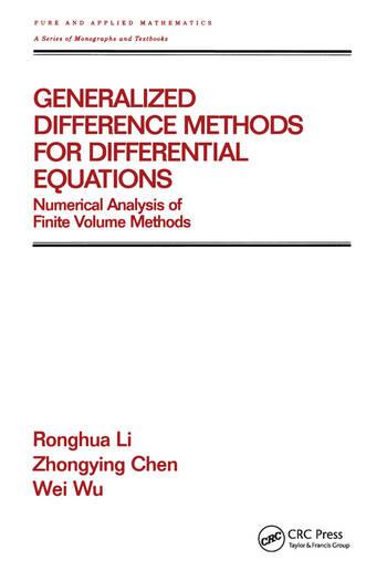 Generalized Difference Methods for Differential Equations Numerical Analysis of Finite Volume Methods book cover