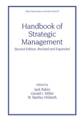 Handbook of Strategic Management, Second Edition, book cover