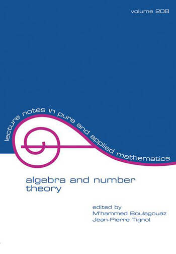 Algebra And Number Theory book cover