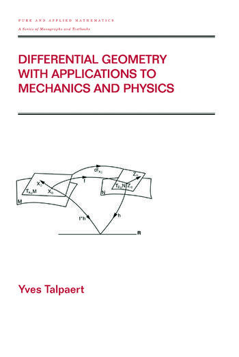 Differential Geometry with Applications to Mechanics and Physics book cover