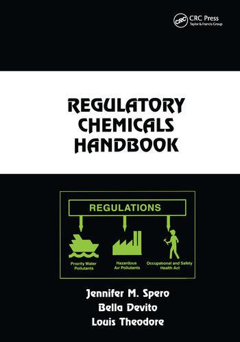 Regulatory Chemicals Handbook book cover