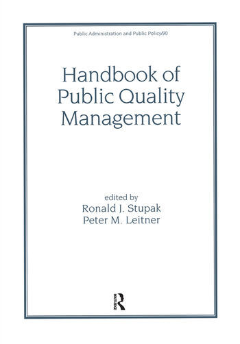 Handbook of Public Quality Management book cover