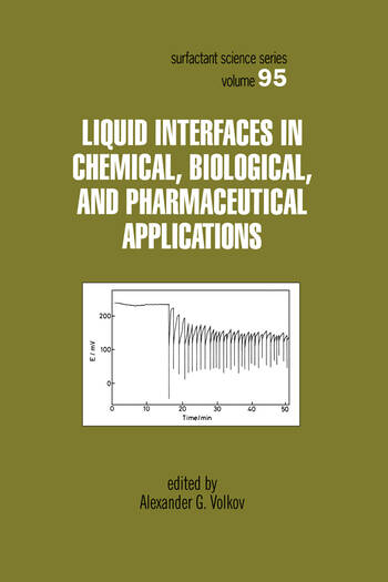 Liquid Interfaces In Chemical, Biological And Pharmaceutical Applications book cover