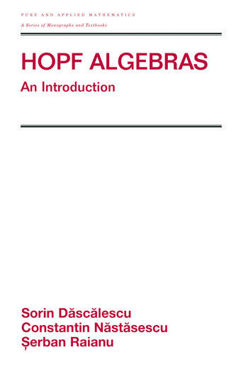 Hopf Algebra An Introduction book cover