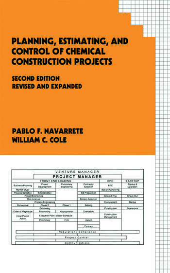 Planning, Estimating, and Control of Chemical Construction Projects book cover
