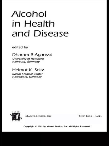 Alcohol in Health and Disease book cover