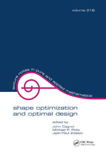 Shape Optimization And Optimal Design book cover