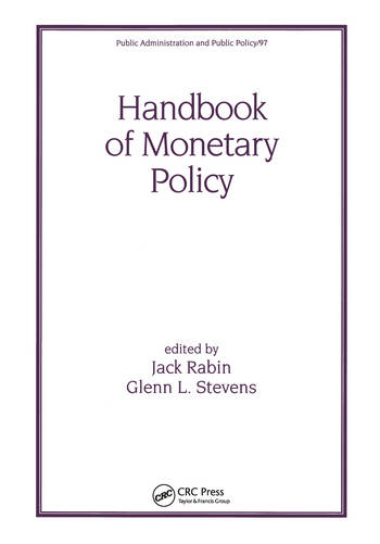 Handbook of Monetary Policy book cover