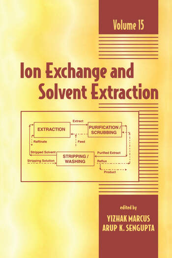 Ion Exchange and Solvent Extraction A Series of Advances, Volume 15 book cover