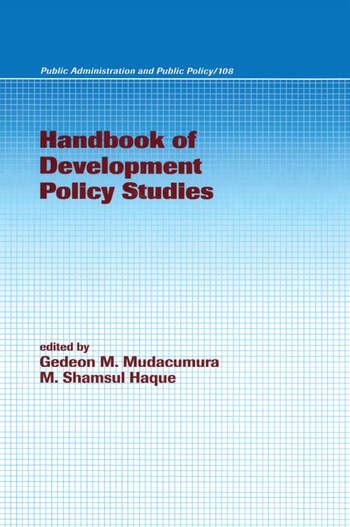 Handbook of Development Policy Studies book cover