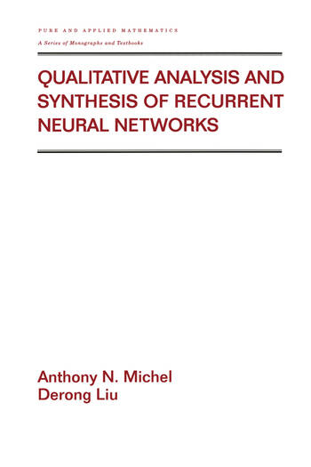 Qualitative Analysis and Synthesis of Recurrent Neural Networks book cover