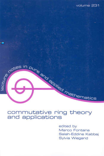 Commutative Ring Theory and Applications book cover