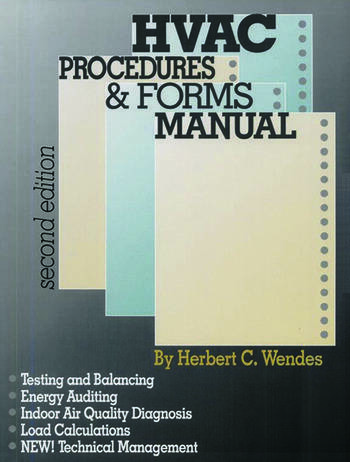 HVAC Procedures & Forms Manual, Second Edition book cover