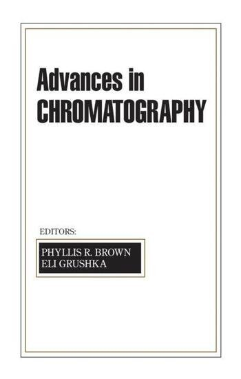 Advances in Chromatography Volume 42 book cover