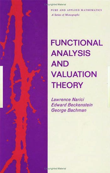 Functional Analysis and Valuation Theory book cover