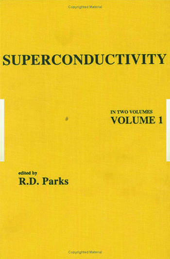 Superconductivity Part 1 (In Two Parts) book cover