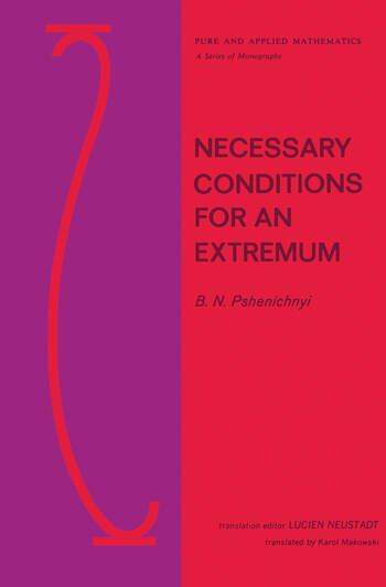 Necessary Conditions for an Extremum book cover
