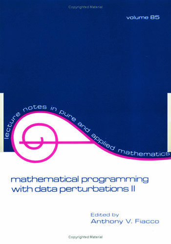 Mathematical Programming with Data Perturbations II, Second Edition book cover