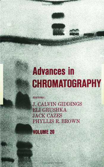 Advances in Chromatography Volume 20 book cover