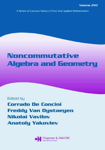 Noncommutative Algebra and Geometry book cover