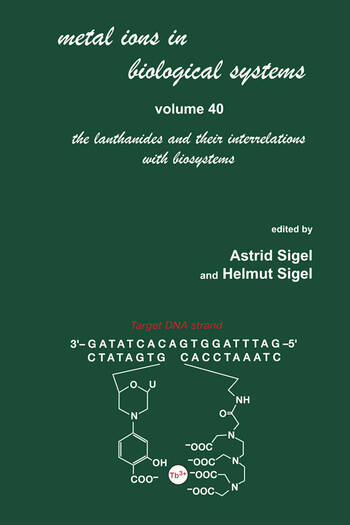 Metal Ions in Biological Systems Volume 40: The Lanthanides and Their Interrelations with Biosystems book cover