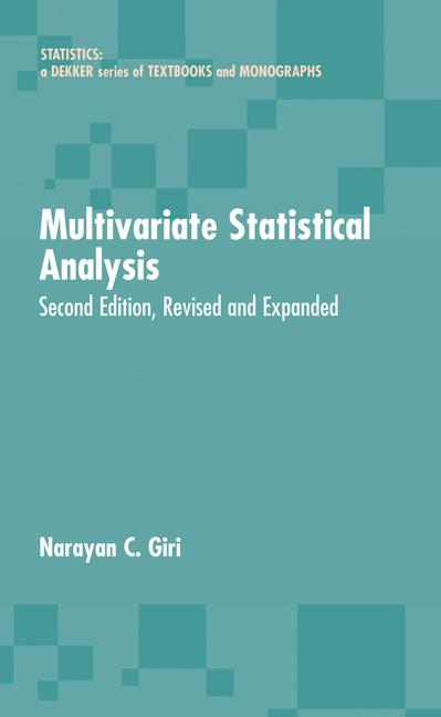 Multivariate Statistical Analysis Revised And Expanded book cover