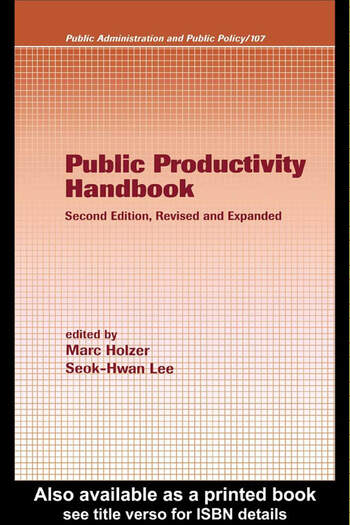 Public Productivity Handbook book cover