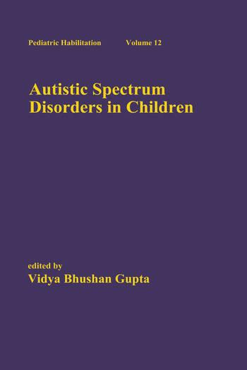 Autistic Spectrum Disorders in Children book cover