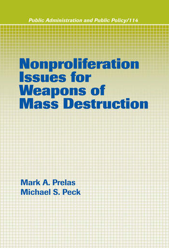 Nonproliferation Issues For Weapons of Mass Destruction book cover