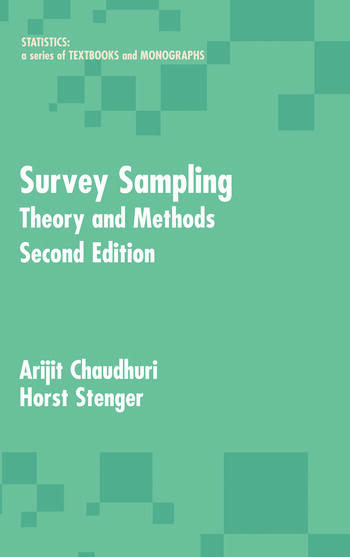 Survey Sampling Theory and Methods, Second Edition book cover