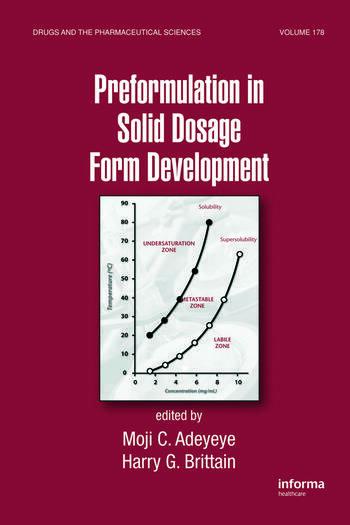 Preformulation in Solid Dosage Form Development book cover
