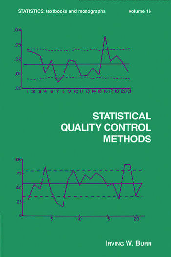 Statistical Quality Control Methods book cover