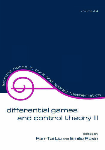 Differential Games and Control Theory Iii Proceedings of the Third Kingston Conference book cover