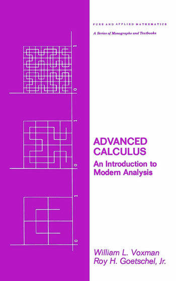 Advanced Calculus An Introduction to Modern Analysis book cover