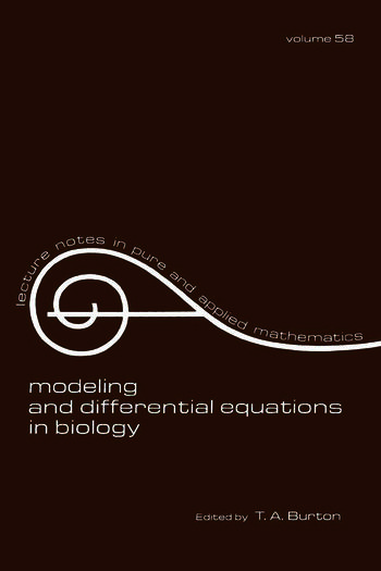 Modeling and Differential Equations in Biology book cover