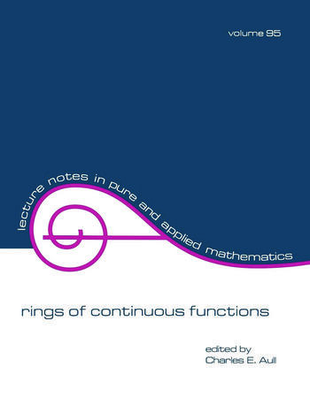 Rings of Continuous Function book cover